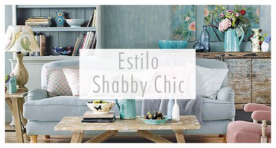 Estilo Shabby Chic - Es un estilo originario de Gran Bretaña de la época victoriana que recrea la decoración campestre de las grandes casas inglesas. Destaca sobre todo por la utilización de piezas de mobiliario antiguo, combinándolas con tonos pasteles y cenefas florales o clásicas.