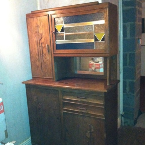 Art Deco Arts And Crafts Sideboard Dresser In Oak