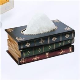 This will add an elegant took that will bring a unique beauty to your bathroom. With the book pattern to highlight and decorate the bathroom. Simple, modern design blend nicely with any decoration.    http://www.dinodirect.com/wholesale-tissue-box-cover-european-book.html