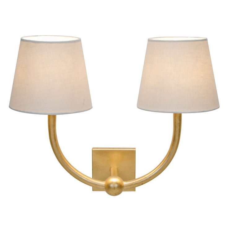 Worlds Away Nadia Gold Leaf Wall Sconce