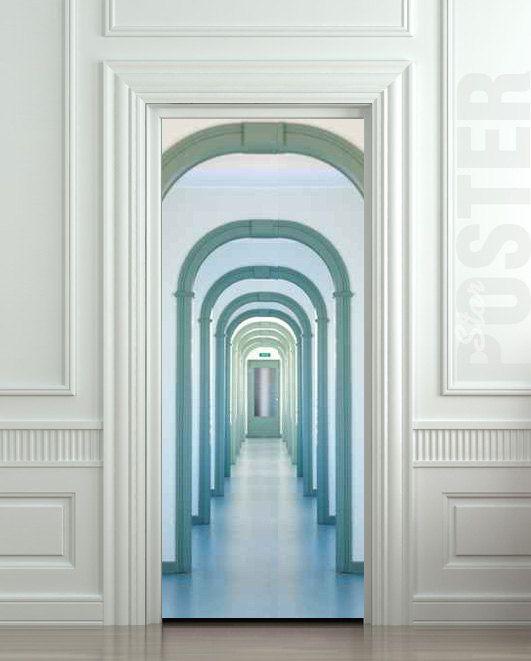 "Door STICKER corridor passage arch decole film poster 31x79""(80x200cm). $29.99, via Etsy."