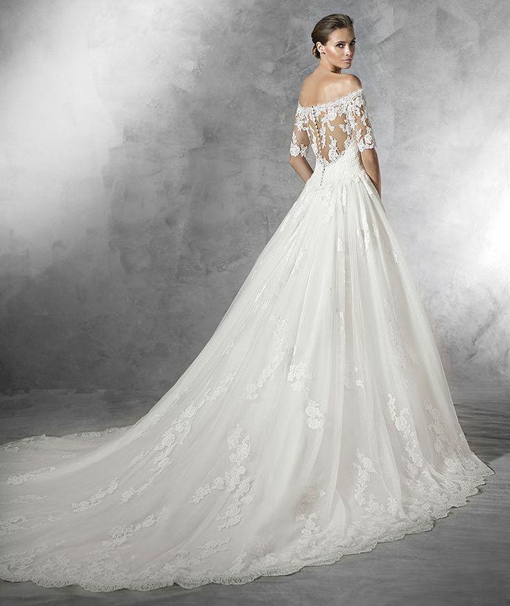 Robe de mariée princesse  en tulle dentelle