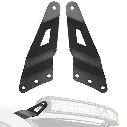 "ALAVENTE 50"" Curved Light Bar Brackets Upper Windshield Mount Kit for 1999-2006 Chevrolet Silverado / Tahoe / Suburban / GMC Sierra / Yukon (Pair, Black) - Fitment: Please make sure these brackets fit your vehicle before ordering Chevrolet Silverado 1500 Pickup 4WD/2WD 1999-2006 Chevrolet Silverado 1500 ""Classic"" Pickup 4WD/2WD 2007 Chevrolet Silverado 2500 Pickup 4WD/2WD 1999-2004 Chevrolet Silverado 3500 Pickup 4WD/2WD 2001-2006 Chevrole..."
