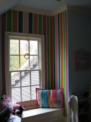 Kristie Chamlee: Plaid Horse Mural and Colorful Stripes