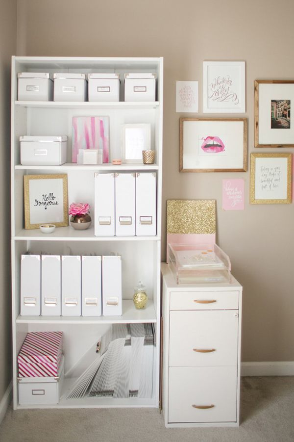 White, pink, & gold