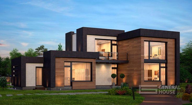 Проекты домов и коттеджей, фотографии, планировки и цены