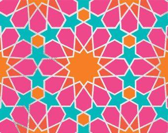 Marokkanische Fliesen-Schablone die acht von royaldesignstencils