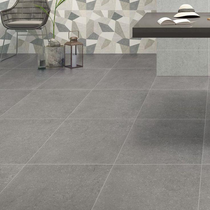 Atrium Kios Gris Glazed Porcelain Floor Tile: MSI Beton Gris 24 In. X 24 In. Glazed Porcelain Floor And