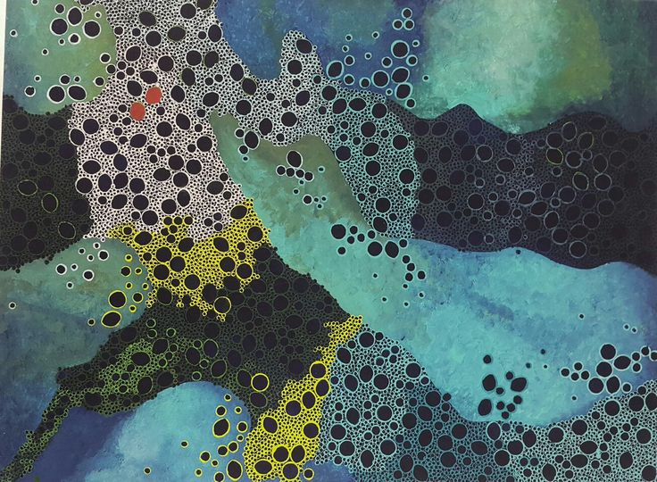 Jude Fellows Great barrier reef acrylic on canvas 60x45cm
