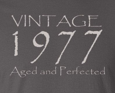 40th Birthday Gift Vintage 1977 Aged and by UpShirtsCreek on Etsy