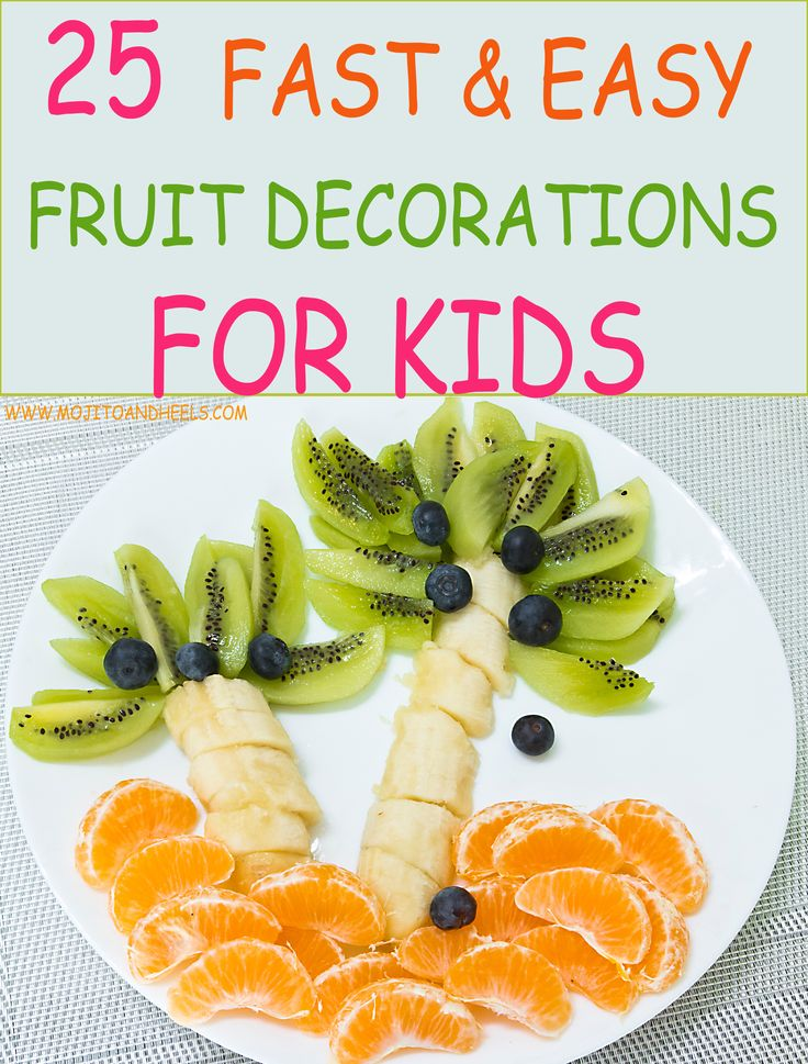 Super cute |fruit |decorations that you CAN actually make yourself for your picky eaters, or just for an upcoming |party! #kids #food |kids |food