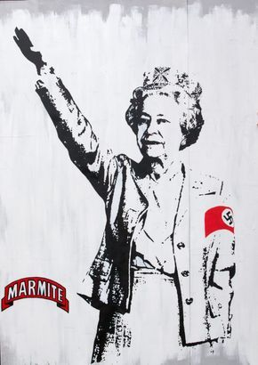 This Banksy image of the Queen is located in Bristol. Researchers identified a pub, playing fields and a residential ...