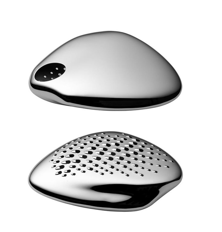 Starck believes an object must be useful before being beautiful and this cheese grater hits the brief perfectly. Its beauty comes from a combination of its smooth curves and strength of material.