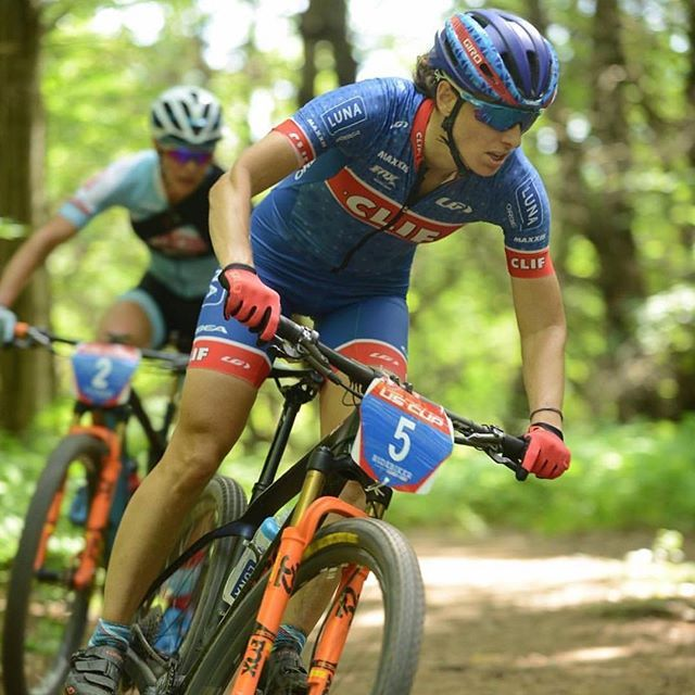 Professional mountain biker @leaeatsalot gets to race on home turf at @easterngrind before heading onwards to National Championships! --- There's nothing like having the cheers of family and friends to motivate through the toughest sections of a race course! What motivates YOU to #LiveYourDream ? (Photo regram from @leaeatsalot). #cyclinggoals #Garneau #GarneauCustom #procycling #mountainbiking #mountainbikes #mountainbikelife #athletesofIG #girlswhoride #teamclifbar #garneaucycling
