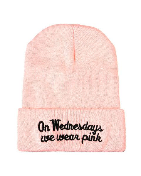 On Wednesdays We Wear Pink Beanie, $25 | Community Post: 17 Cozy Beanies That'll Keep You Warm This Winter