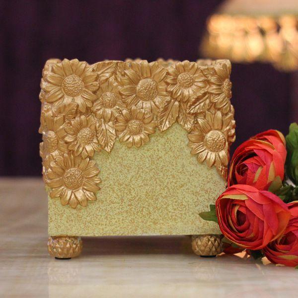 europese stijl woninginrichting artikelen hars ambachten keramiek vaas decoratie vaas roze vierkant