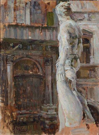 Alessandro Milesi (1856-1945) - Interno di Palazzo Ducale, Venezia