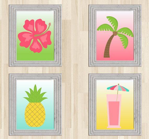 Tropical Decor Tropical Decorations Tropical Art by BusleyDesigns