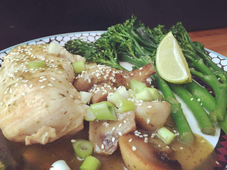 thai green curried chicken