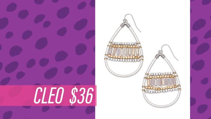 2017 Premier Designs spring collection  Cleo  Facebook.com/CiboloJewelryLady