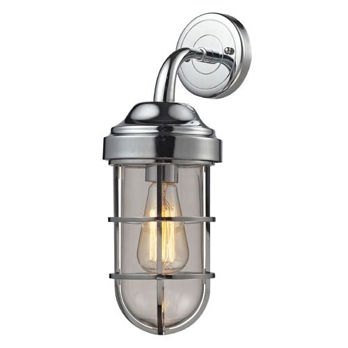Elk Lighting Seaport Polished Chrome Sconce | 66345/1 | Destination Lighting