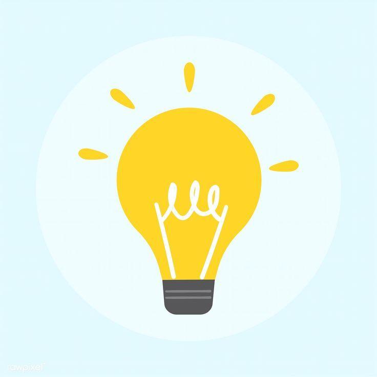 Flat Icons Light Infographics In 2020 Light Bulb Icon Light Icon Light Bulb Illustration