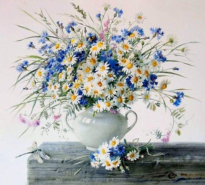 полевые цветы в вазе - Поиск в Google