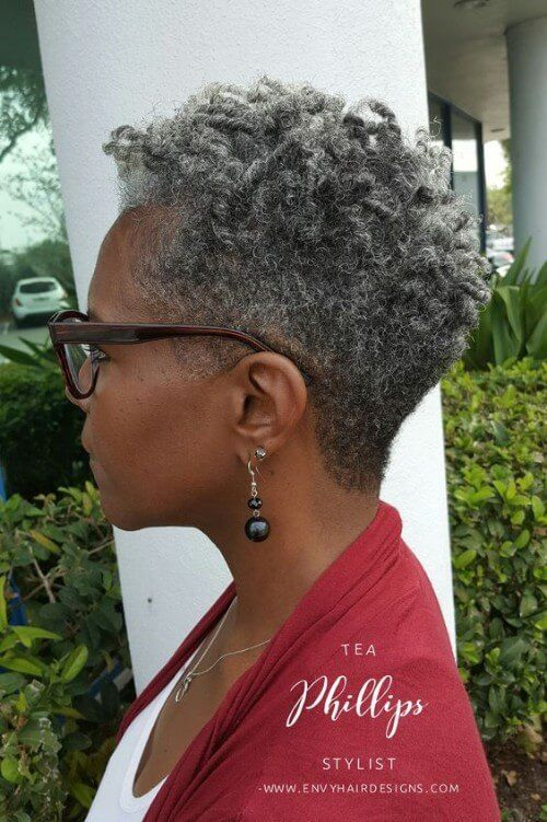 Hairstyles For Black Women Over 60 | Short grey hair