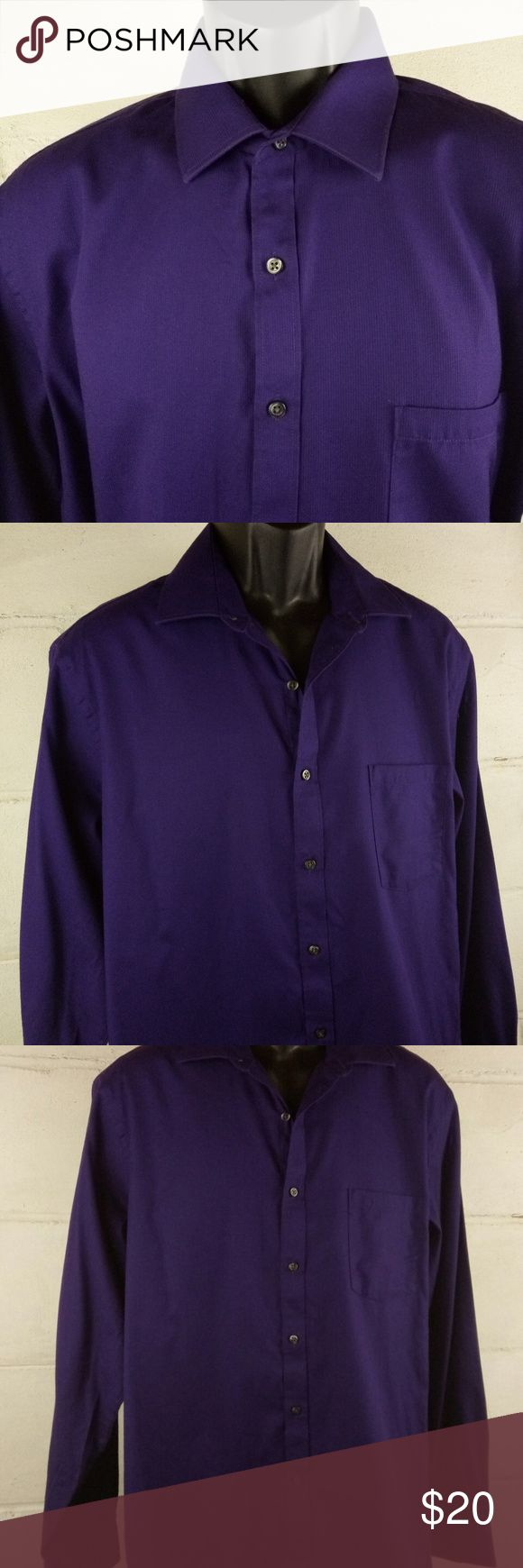 Van Heusen Dress Shirt Size 16.5 Purple Gently pre-owned clean excellent condition. May have signs of normal wear, but do not have rips or holes (unless made that way).   See photos above for actual details and the MEASUREMENTS & SIZING CHART to answer your Sizing Questions.  We do our best to maintain quality standards during inspection before listing items for sale in our closet, so you are happy to open your Poshmark package from Shebrew Trading Store!  We ship items immediately and…