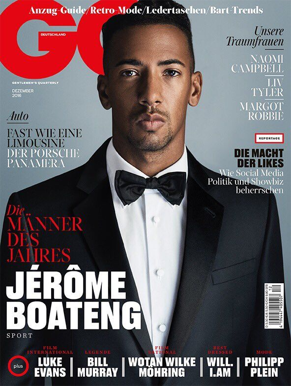 Male Fashion Trends: Jérôme Boateng por Giampolo Sgura para GQ Alemania