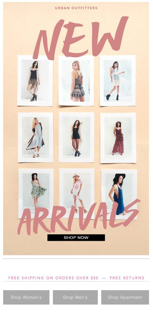 urban outfitters new newsletter eblastemail newsletter designnewsletter ideasemail