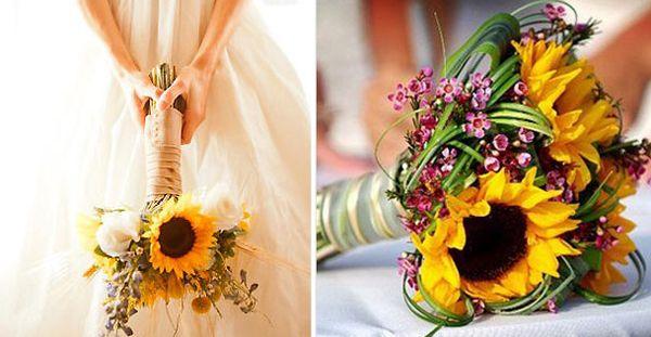 Bouquet di girasoli, perfetto per il matrimonio in estate