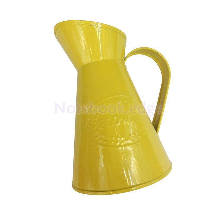 Yellow Metal Flowers Vase Jug Pitcher For Wedding Home Flower Arrangement