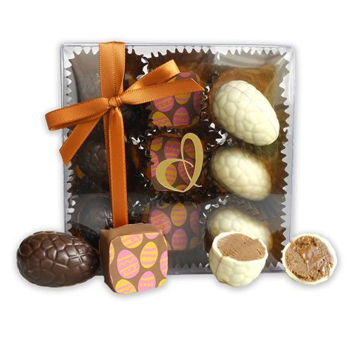 An Easter Assortment of Chocolates. http://www.giftloft.co.nz/collections/easter-hampers-chocolate-easter-egg-gift-ideas/products/devonport-chocolates-easter-assortment-of-nine-chocolates #Devonport #chocolate