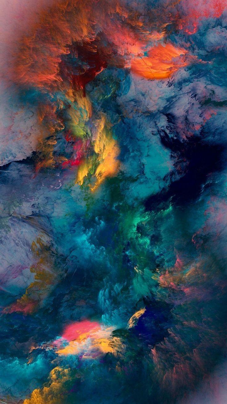 Abstraction Bel éclat des teintes et belle envolée | Fond d'écran abstrait, Abstrait, Papier ...