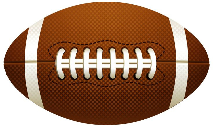 American Football Ball PNG Vector Clipart