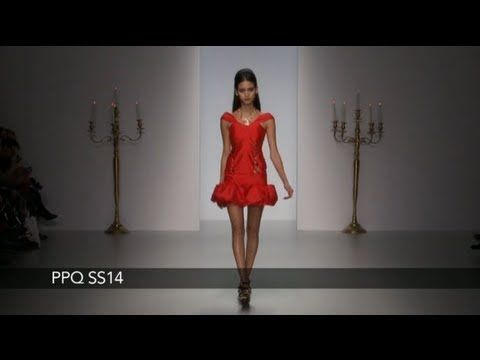 Watch the PPQ catwalk show for spring/summer 2014 at London Fashion Week