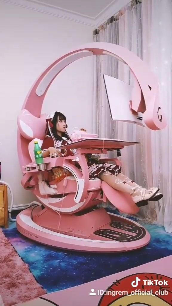 Ingrem Pink Setup Gaming Workstation Ingrem Pink