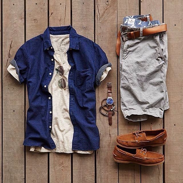 A great casual summer combo. I have always been a big fan of layers, accept when it is 90 degrees out.  #menstyles #mensfashion
