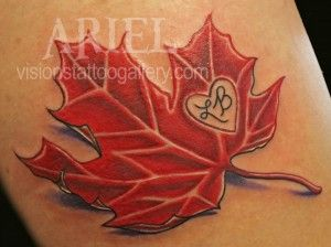 Maple Leaf Tattoo by Ariel Robinson