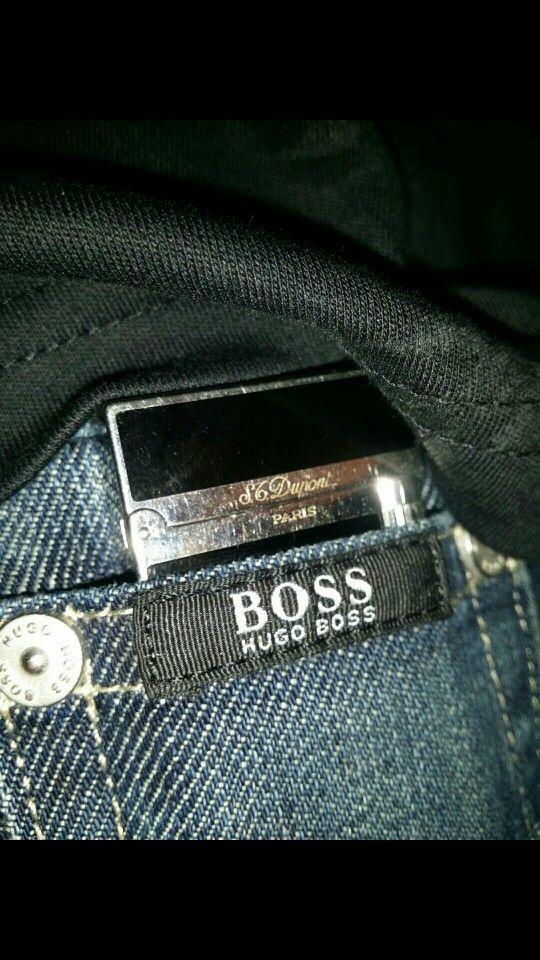 Dupont Paris Lighter inside Hugo Boss Pocket