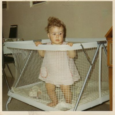 playpens with sides that collapsed...you had one ! I think it also had a mesh top to keep out flies or bugs??????