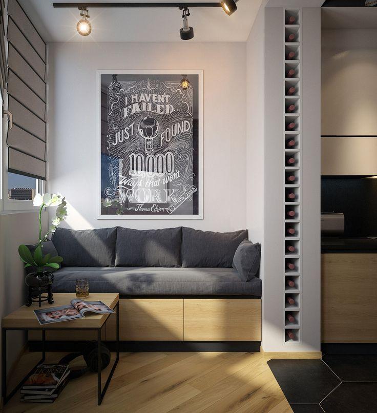 Фото из портфолио Дизайн квартиры-студии – фотографии дизайна интерьеров на InMyRoom.ru