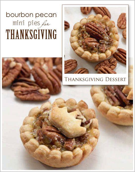 mini pecan pies mini pies bourbon pecan pie cupcakes pecan tarts ...