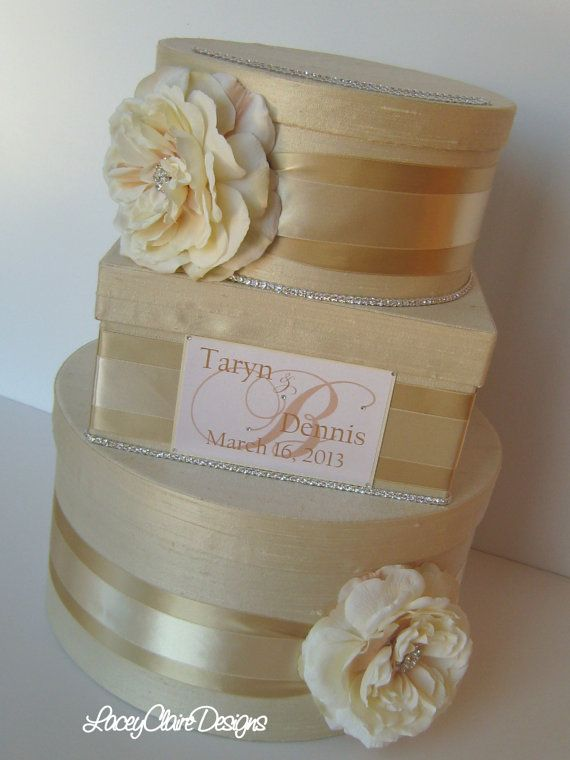 Wedding Gift Card Money Box  You customize by LaceyClaireDesigns, $119.00