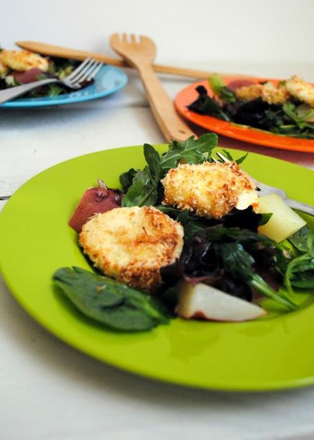 Crispy Goat Cheese Salad with Dijon & Red Potato