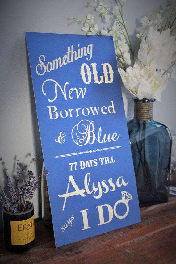 recipe themed bridal shower invitation wording%0A Something Old New Borrowed and Blue Until the Bride says I Do Sign