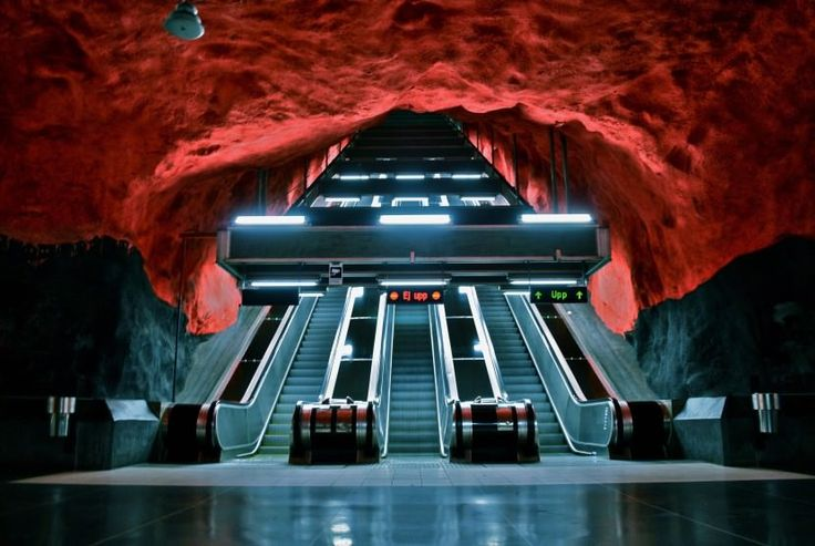 The Stockholm Metro is an incredible labyrinth of art, 110 km long