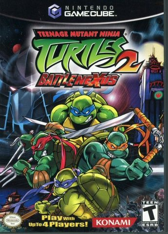 1123266 nintendo gamecube teenage mutant ninja turtles 2 battlenexus video game console