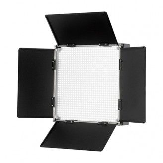 Fotodiox Pro LED-1000AVL with Barndoor and LCD Touchscreen Control, Still / Video LED Light Kit, with Dimmable Control, 12V AC Power Adapter, Light Stand bracket, CRI > 92
